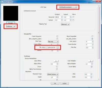 cargar HDRI en BG-Color