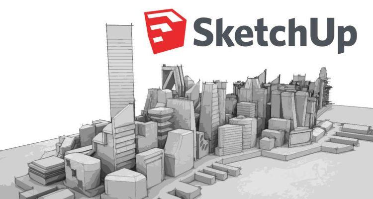 Sketchup 2017 modelo ciudad conceptual