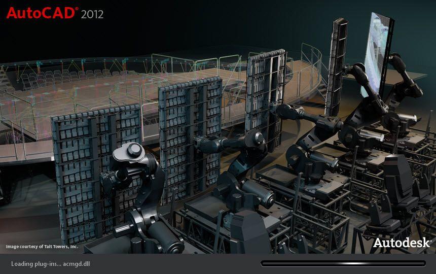 pantalla de inicio de Autocad 2012