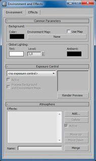 ventana configuracion environment and effects
