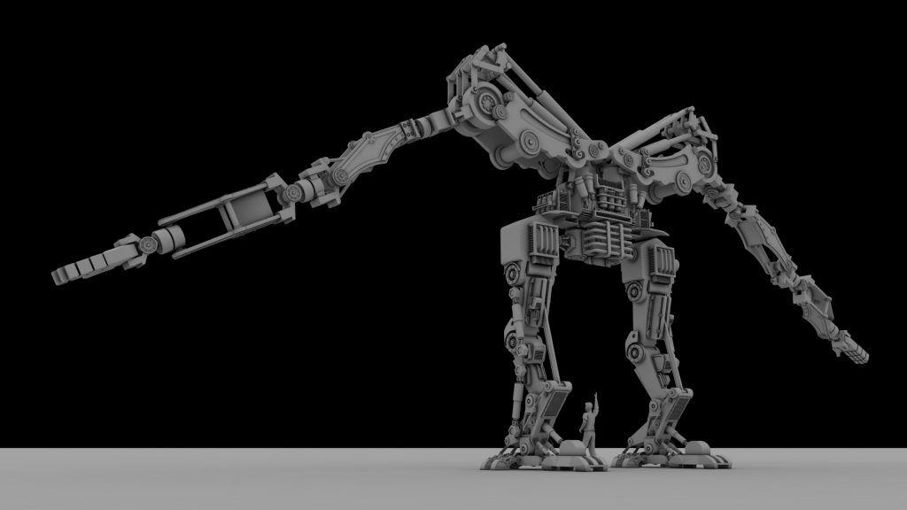 Robot modelado 3d integramente con Sketchup