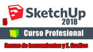 Curso gratuito completo de Sketchup 2018 barras de herramientas
