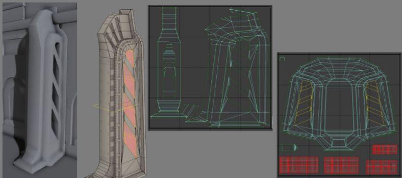 La imagen de la derecha muestra un correcto uso del canvas para un Lightmap