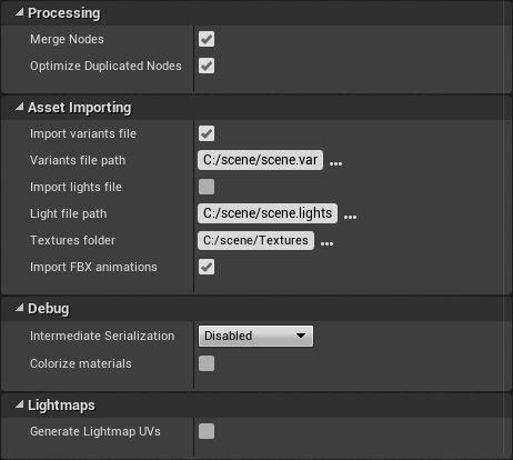 Importación con VRED a Unreal Engine 4