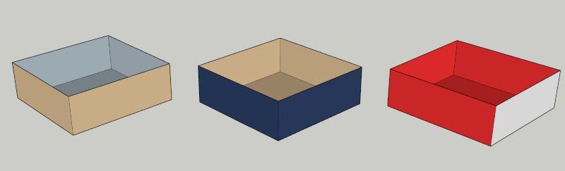 Modelo de Sketchup con caras simples, compare con imagen en Unreal Engine 4.