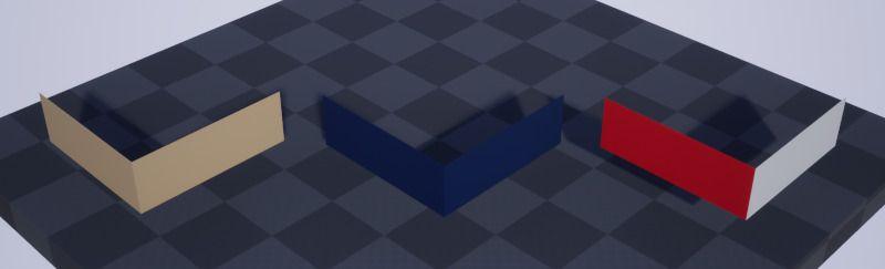 Modelo de Unreal Engine 4, luego de importar archivo Sketchup con caras simples.