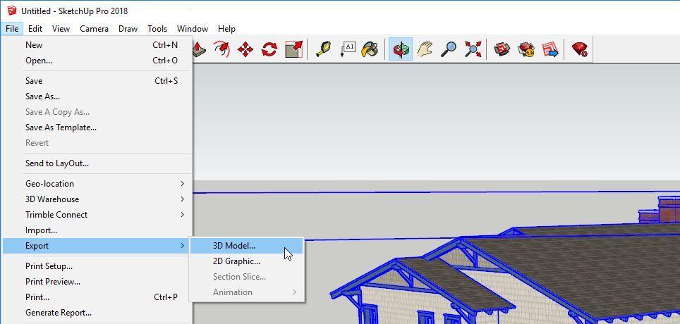 Exportar modelo de Sketchup con Datasmith a formato .udatasmith
