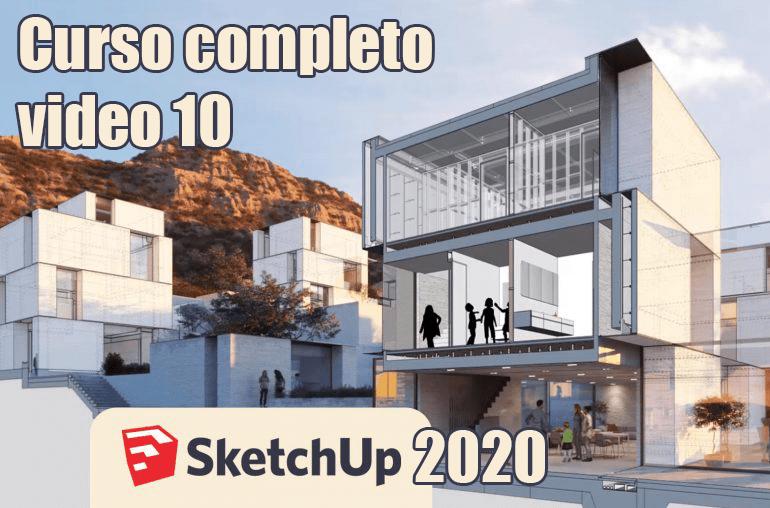 Curso gratis Sketchup 2020 - Video 10 Herramienta equidistancia